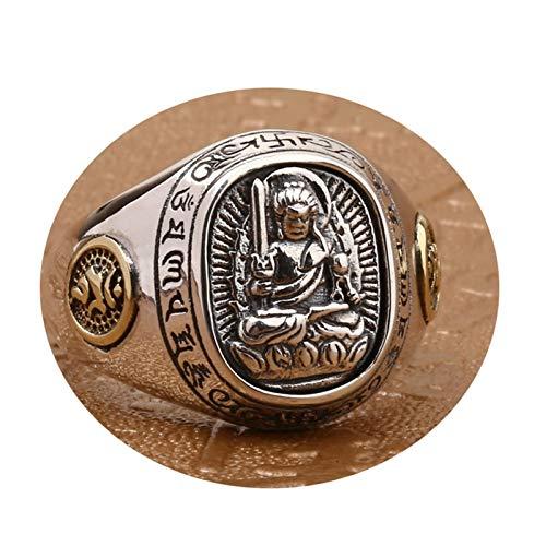 Anyeda Ringe Silber 51 Schmuck Ringe mit Stein Sternzeichen Buddhismus Ring Gold