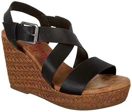Jellypop Womens Tahoe Casual Wedge Sandals 9 Black