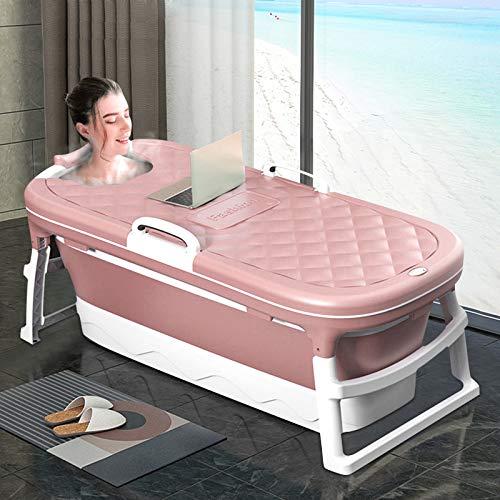 InLoveArts Bañera plegable de plástico grande, bañera plegable portátil para adultos, ducha compacta, bañera de bebé portátil, bañera de plástico grueso plegable para adultos