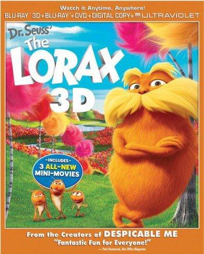 Dr. Seuss' The Lorax (Blu-ray 3D + Blu-ray + DVD + Digital Copy + UltraViolet + Minions Fandango Cash)