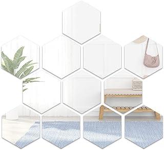 comprar comparacion Booly 12 Pcs Espejos Autoadhesivos Azulejos Espejo Pegatinas De Pared Espejo 3D Hexágono Adhesivos Acrílicos Para Dormitor...
