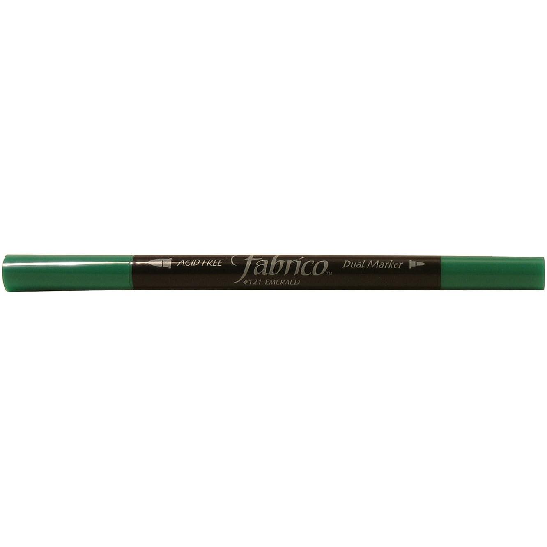 Tsukineko Dual-Ended Fabrico Marker Color-Fast, Emerald