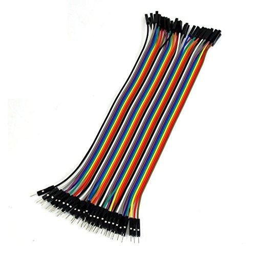 Dupont - Cable de puente macho a hembra (40 hilos, 20 cm, 1 pin a 1 pin)