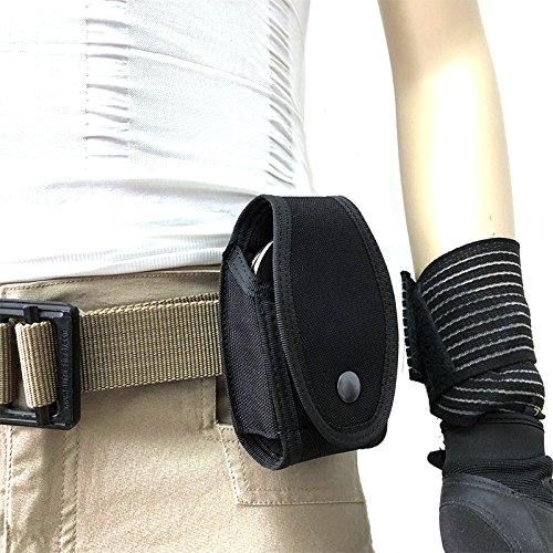 FIRECLUB Tactical Molle Handcuff Hand Cuff Case Carrier Holder Pouch Bag Law Enforcement Military Standard Belt Loop Hang on Molded Waist Belt Black