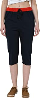 VIMAL JONNEY Cotton Blended 3/4th Capri for Women's-F50001-P