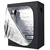 ID IDAODAN 48x24x60 inch Mylar Hydroponic Indoor Grow Tent for Plant Growing, 600D Waterproof Oxford...