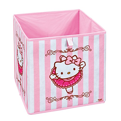 Interlink 99200452 Hello Kitty Ballerina Banc de Rangement Plastique Rose/Blanc 32 x 32 x 32 cm