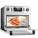 Aobosi Toaster Oven Air Fryer Oven Toaster Convection Oven Digital Countertop Rotisserie Oven Pizza Oven 10-in-1 Multi-Function Toast/Roast/Broil/Bake/Dehydrate|Large 24Qt|Recipe|1700W 16x13x16'
