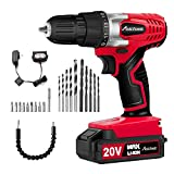 Avid Power 20V MAX Lithium Ion Cordless Drill, Power Drill Set with 3/8 inches Keyless Chuck, Variable Speed,...
