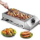 TELAM Parrilla Eléctrica Portátil,2500W grill electrico 50-300℃ Temperatura Ajustable Sin Humo...