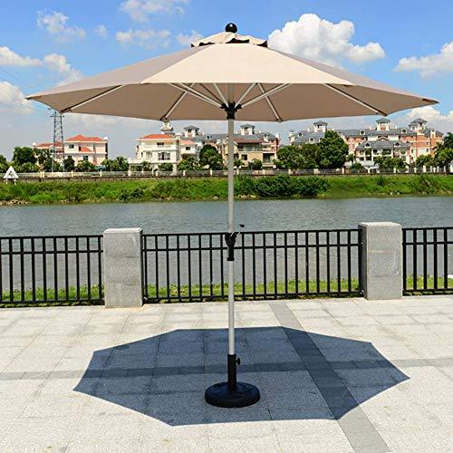 ZGYQGOO Garden Parasol Sun Umbrella Patio Parapluie Jardin Robuste 8.9ft Parapluie extérieur avec poignée à manivelle, Tissu en Polyester épais, Protection Solaire