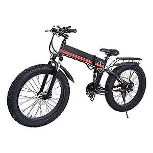 Jieer Elektrofahrrad, 26 Zoll Offroad-Mountainbike 1000W Leistungsstarkes Ebike 48V 12.8AH Snow Road Folding Elektrofahrrad E-Bike MX-01
