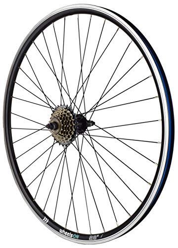 wheelsON 700c Rear Wheel + 6 speed Freewheel Hybrid/Mountain Bike Black 36H Rim Brake