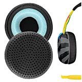 Geekria QuickFit Protein Leather Replacement Ear Pads for Skullcandy Grind Bluetooth Wireless Headphones Earpads, Headset Ear Cushion Repair Parts (Black)