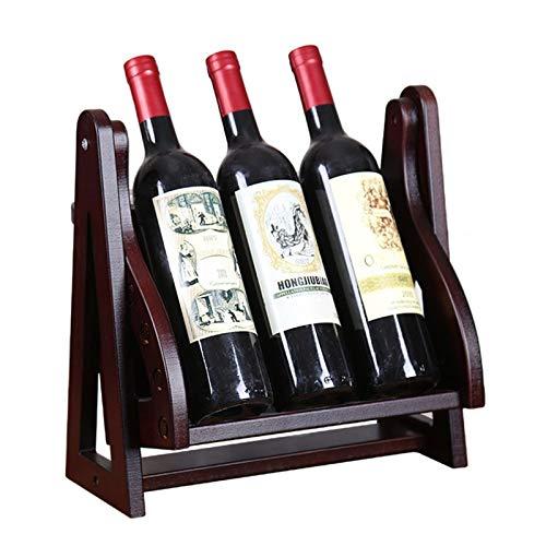JTRHD Casier à vin de Bouteille Affichage de vin Stand Stand Verre Verre à vin Porte-vignoble à vin pour Armoire/Placard/comptoir (Couleur : Marron, Size : Medium)