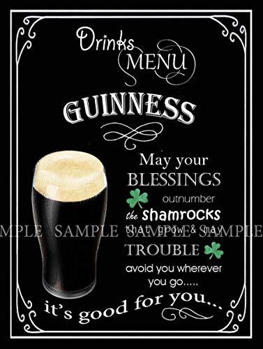 'N/A' Guinness Retro Pub Bar Club Man Shed Home Bar Metal Sign Lovely Gift 10 x 14 Inch
