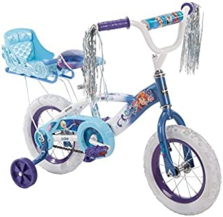 Huffy New 12 Inch Girls' Frozen Bike with Sleigh, Blue