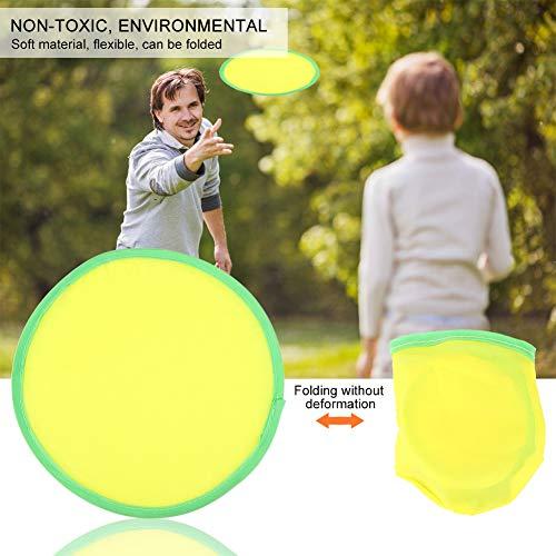 Alomejor Flying Disc Bunte Wurfscheibe Kinder Soft Fun Rubbery Summer Toy für Sport Outdoor Aktivitäten(Gelb)