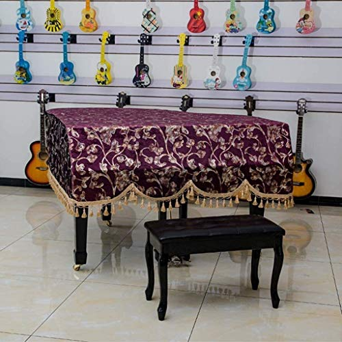G-AO Yamaha tapa del instrumento musical, doble caja heces sola cubierta del teclado Europea cubierta piano de cola hecha a medida (tamaño: 38x58cm + piano cover) (Size : Piano cover(customize))