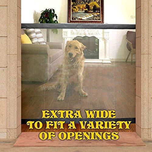MEYLEE Magic Gate Portable Folding Safe Guard Überall Installieren Mesh Pet Gate Baby Sicherheitstür Für Hausküche Oder Outdoor,M