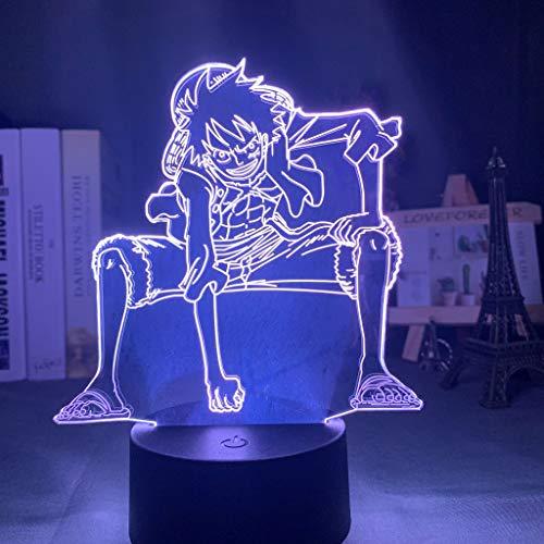 3d Nachtlicht Affe D Ruffy Figur USB Batteriebetriebenes Nachtlicht für Kinder Kind Schlafzimmer Dekor Led Nachtlicht Einteiliges Geschenk