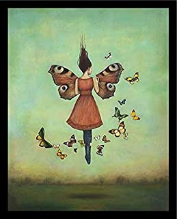 Buyartforless Framed Floating with Butterflies - Imago Sky by Duy Huynh Art Print Poster, 28