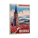 KDIU Berne Schweiz Vintage-Reise-Poster, Leinwand,