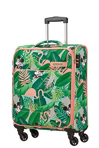 American Tourister Funshine Disney - Spinner S Bagaglio a Mano, 55 cm, 36 L, Multicolore (Minnie Miami Palms)
