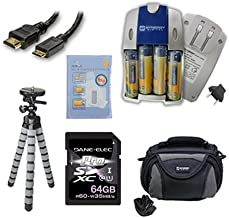 Samsung WB110 Digital Camera Accessory Kit includes: SB257 Charger, KSD64GB Memory Card, HDMI6FM AV & HDMI Cable, ZELCKSG Care & Cleaning, GP-22 Tripod, SDC-26 Case