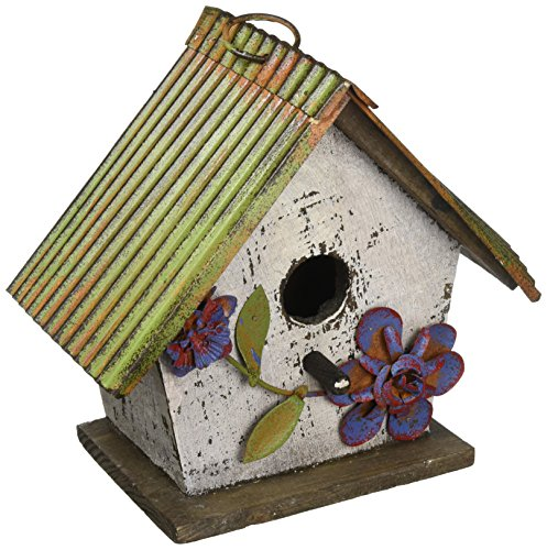 Carson Home Accents Floral White Birdhouse