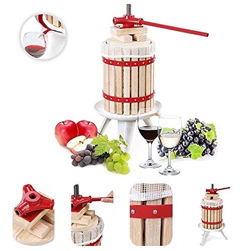 Grafner® XL Obstpresse 12L Fruchtpresse Weinpresse Saftpresse Maischepresse Apfelpresse Obstmühle Beerenpresse 12 Liter Presstuch