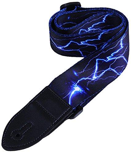 Paquete de correa de guitarra que incluye un conjunto de cerraduras de correa / 1 protección de punta / punta para guitarras de bajo, eléctricas y acústicas