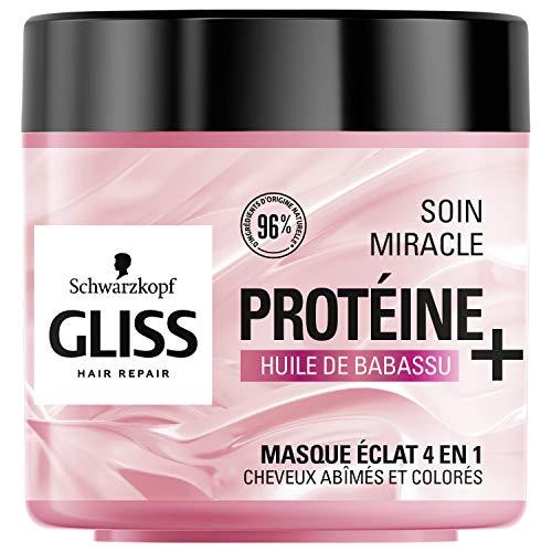 Schwarzkopf Gliss – Masque Soin Miracle Eclat 4 en 1 – Cheveux abîmés et colorés – 400ml