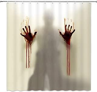 Feierman Halloween Shower Curtain Decor Horror Ghost Bathroom Curtain Decor Machine Washable Waterproof Fabric Bathroom Decor Set with Hooks 70x70Inches