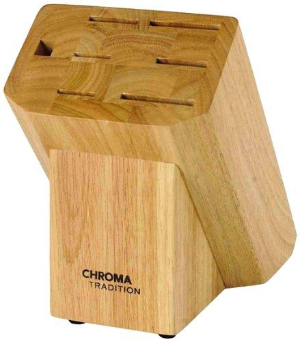 Chroma T-20R Messerblock für 6 Messer und 1 Wetzstahl 14 x 21 x 23 cm