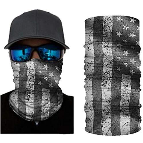 VCOROS USA Flag Bandana Face Mask Seamless Balaclava Tube Face Shield Mask For Men Women (WFTJ-123 USA Flag)