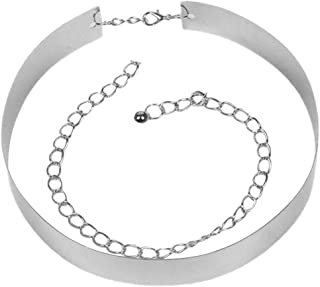 MoreChioce Regolabile Cintura da Donna con Gancio,Moda Decorativo Cintura da Cintura in Metallo,Catena a Vita per Abito,Fe...