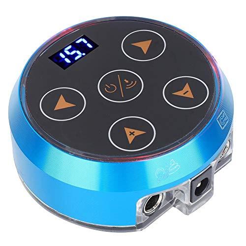 Fuente de alimentación profesional para tatuaje - Fuente de alimentación profesional ajustable para máquina de tatuaje Fuente de alimentación para tatuaje Azul 100-240V(EU)