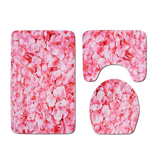 Ss Badmat tapijt 3-delige memory foam set - Super zachte anti-slip douche - de perfecte combinatie van luxe en comfort - model/flanel