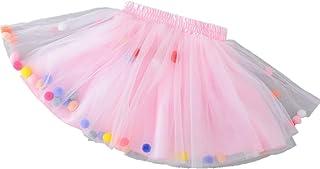 014ee9584a199 Famyfirst Jupe Tutu avec Boules Multicolores pour Enfant Fille - Robe de Filles  Jupon Tulle Multicolore