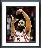 NBA James Harden Houston Rockets Foto enmarcada (3,5 x 15,5 cm), diseño de los...