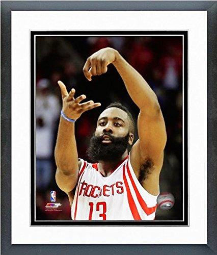 NBA James Harden Houston Rockets Foto enmarcada (3,5 x 15,5 cm), diseño de los Houston Rockets