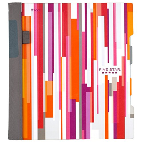 "Five Star Advance Spiral Notebook, 2 Subject, College Ruled Paper, 120 Sheets, 11"" x 8-1/2"", Stripe Design (73139)"