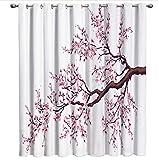 DGTJSEVEN Ojal Blackout Pink Cherry Blossoms Flor Ventana Tratamientos Cortinas Cenefa Cortinas de baño Tela de Cocina Decoración Floral 280x300cm