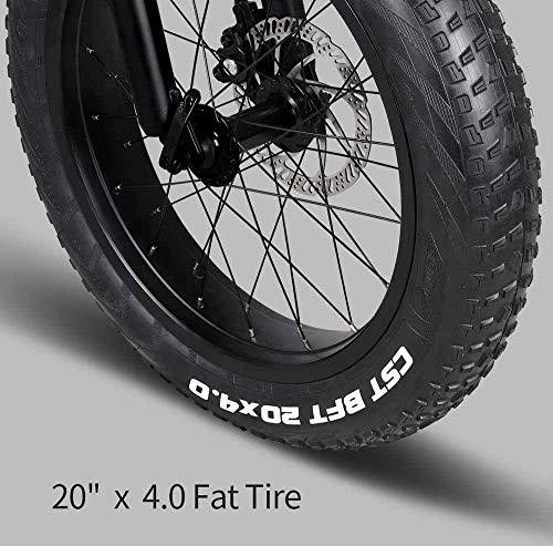 "51a9GUbAs L - YDBET Elektro-Mountainbike, Folding E-Bike 250W Motor 12.5Ah Lithium-Batterie 3 Modus LCD-Display & 20"" Räder Herren Berg E-Bike, Schwarz"