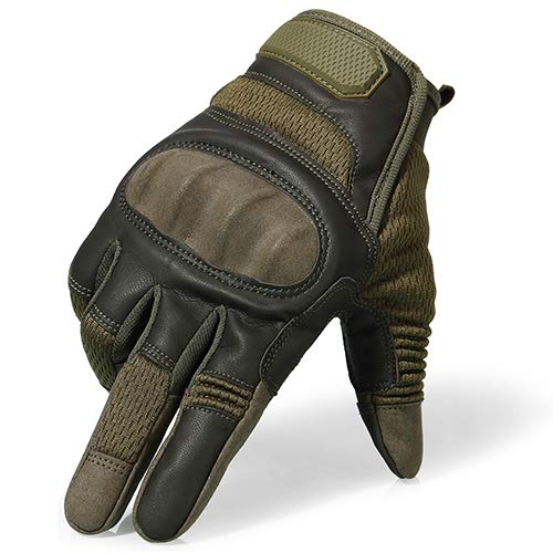 Touchscreen Motorrad Hard Knuckle Vollfingerhandschuhe Schutzausrüstung Racing Biker Motorradfahren Moto Motocross-Green-6-XL