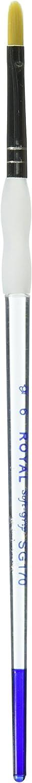 ROYAL BRUSH SG170-6 Royal /& Lang Nickel Soft-Grip Filbert Paintbrush Size 6 Gold Taklon