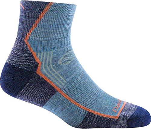 Darn Tough Hiker 1/4 Sock Cushion Womens Walking Socks Medium Denim