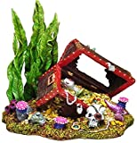 Exotic Environments Sunken Treasure Chest Aquarium Ornament, Small,...
