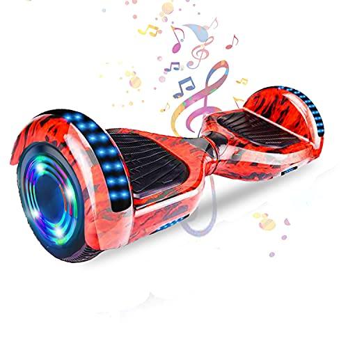 HappyBoard 6.5'' Hoverboard Patinetes de Acrobacias Patinete Eléctrico Bluetooth Monopatín Scooter Autobalanceado,...